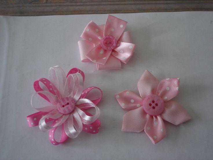 pretty hair clip flowers