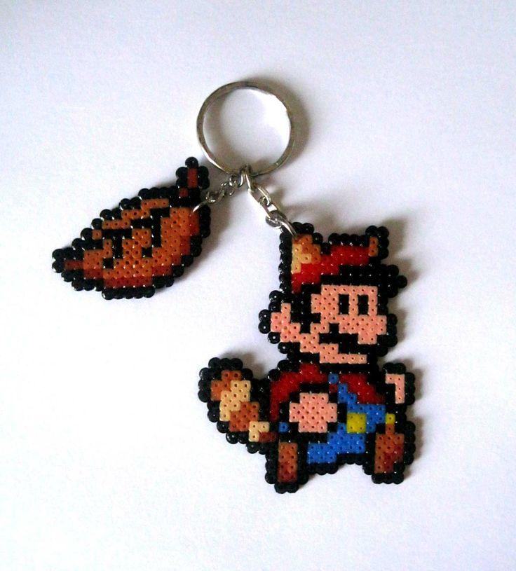 Mario Tanooki Keyring (Brooch, magnets, Big sprites...) from Super Mario Bros saga/Llavero Mario 3(imanes, broches, Big sprites... ) 3,95€ https://www.etsy.com/es/listing/169081382/sprites-super-mario-bros-llaveros-imanes #videogames #videojuegos #gamer #freak #geek #friki #nintendo