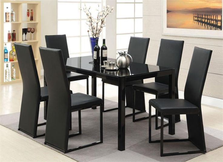 White And Black Dining Room Sets best 25+ black glass dining table ideas on pinterest | glass top