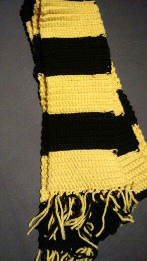 BVB-Schal mit Rippenmuster aus Kettmaschen
