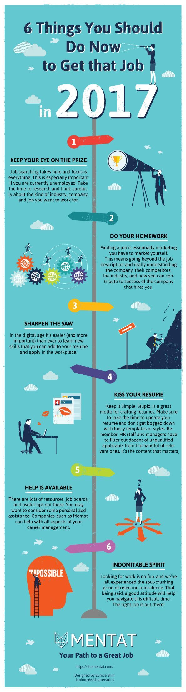 6 Things You Should Do NOW to Get that Job in 2017 - Infographic | If you're worried about your job security, interested in changing careers, or currently unemployed, this time of year is ideal to seize the day and get yourself that new job in 2017