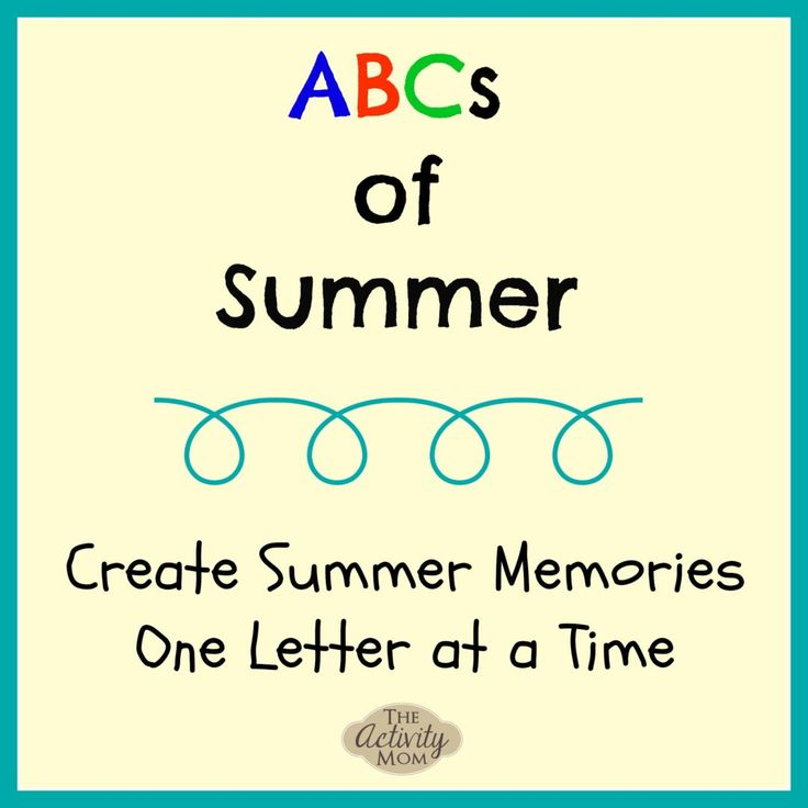 ABCs of Summer - A free, printable planner and memory keeper for your family's Summer