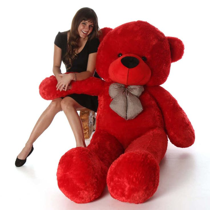 Giant Teddy  - Bitsy Cuddles Soft and Huggable Jumbo Red Teddy Bear 72in - Giant Teddy Bear!, $139.99 (https://www.giantteddy.com/bitsy-cuddles-soft-and-huggable-jumbo-red-teddy-bear-72in-giant-teddy-bear/)