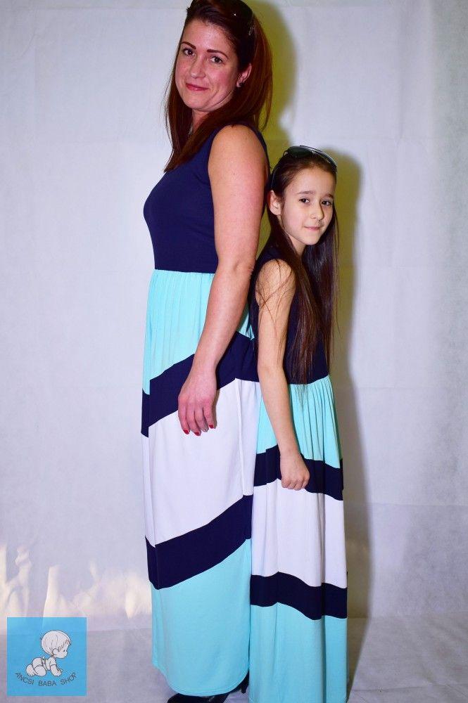 e92bd82f16 Anya-lánya hosszú ruha szett. Anyaga: 95% pamut, 5% elastan Gyönyörű ...