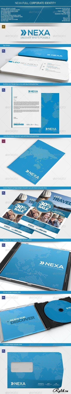 Фирменный, корпоративный стиль - PSD шаблоны. Nexa Full Corporate Identity