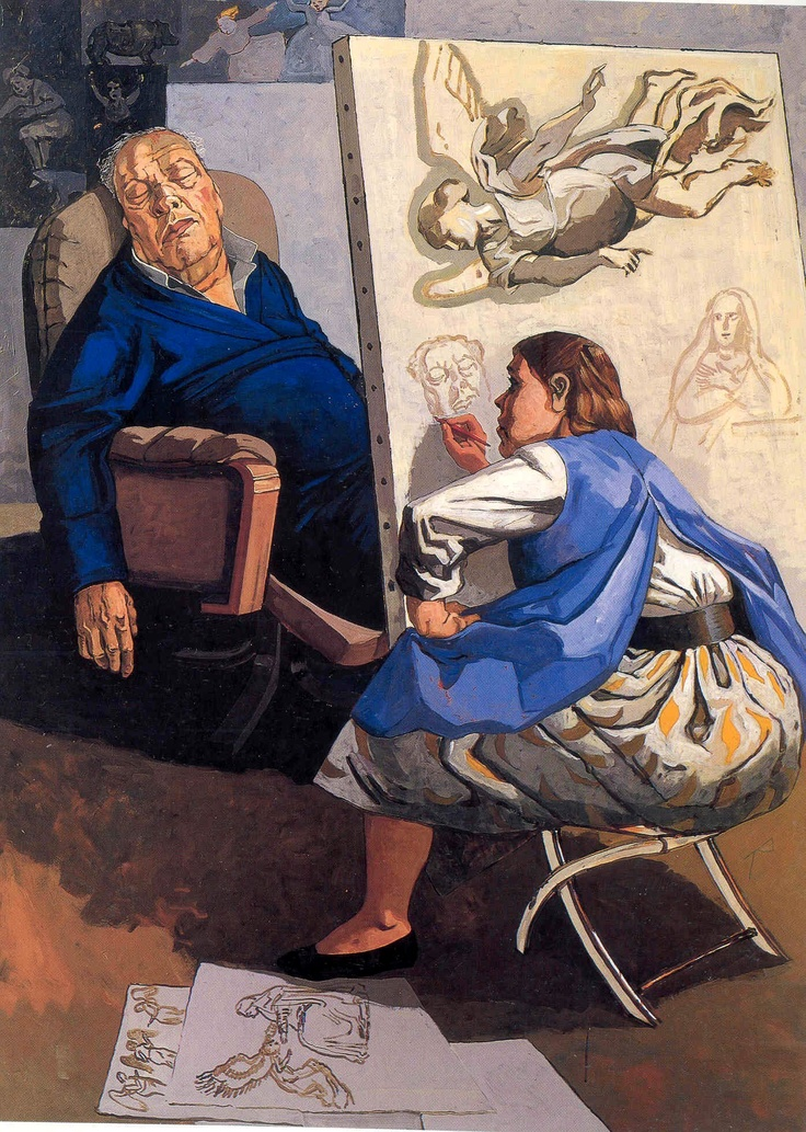 Paula Rego. Joseph's Dream, 1990. Acrylic on paper on canvas, 183 x 122 cm.