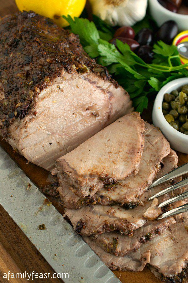 Anchovy-Crusted Pork Loin - A simple, savory rub transforms a pork loin into something truly memorable!