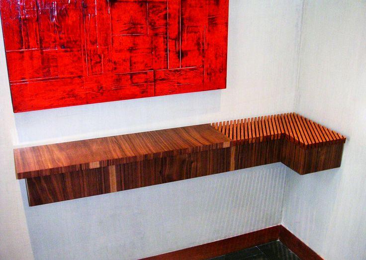 "Diseño de muebles, muebles a la medida, consola ""Llovizna"", muebles en madera,  Muebles especiales Furniture design Wood furniture Console"