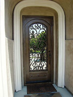 The 25 best ideas about iron doors on pinterest wrought for Single front entry doors