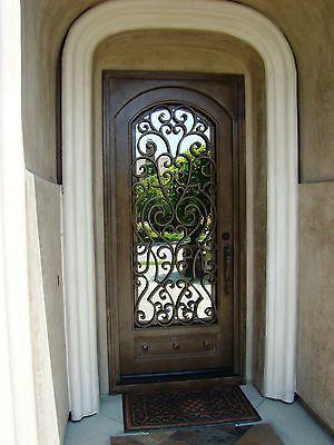Wrought Iron Entry Doors, Single Door SD38003  3x8 door, Custom sizes available