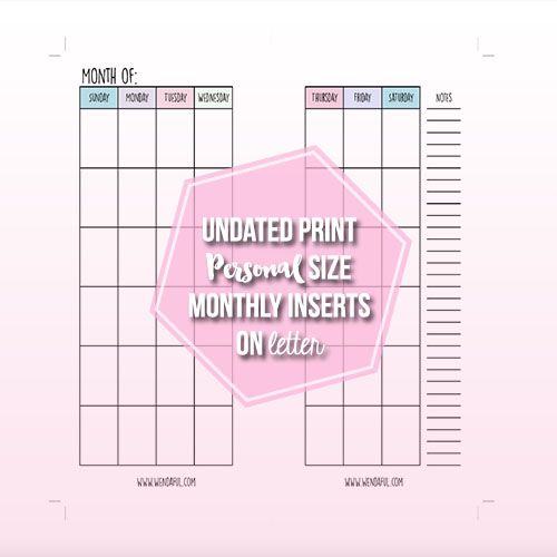 Best Monthly Calendar Printables Images On