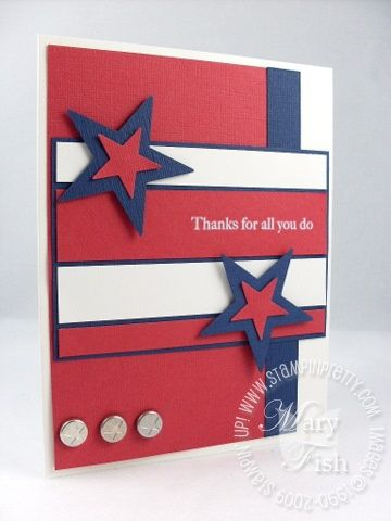 crisp military or 4th of july card  also with a little change...a nice graduation card