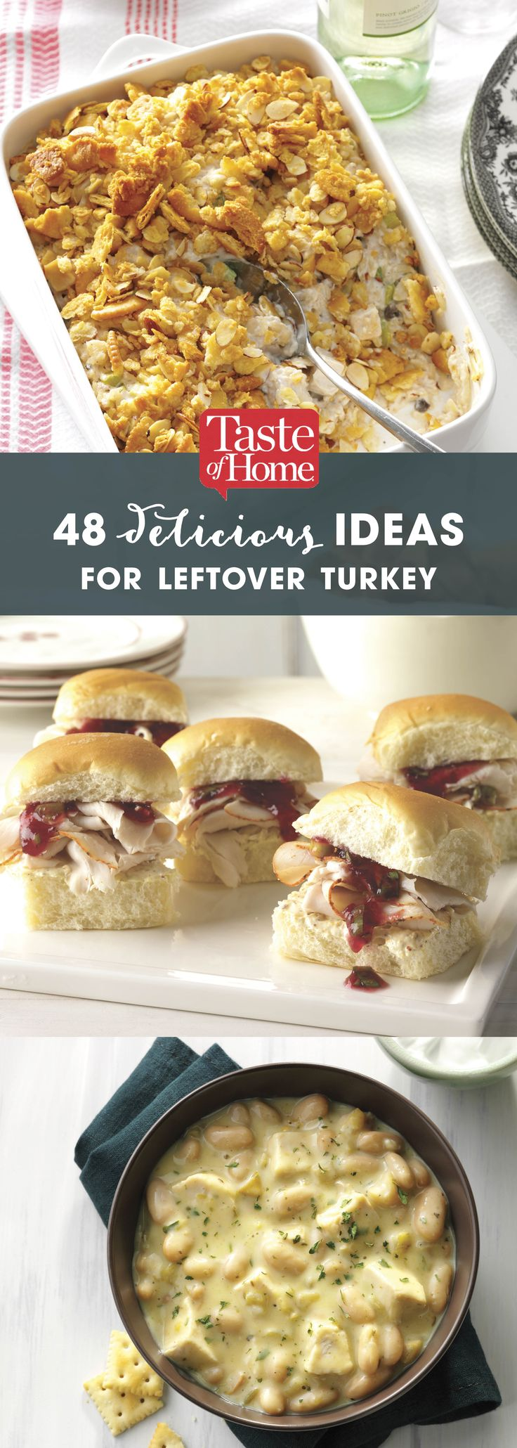 48 Delicious Ideas for Leftover Turkey (from Taste of Home)