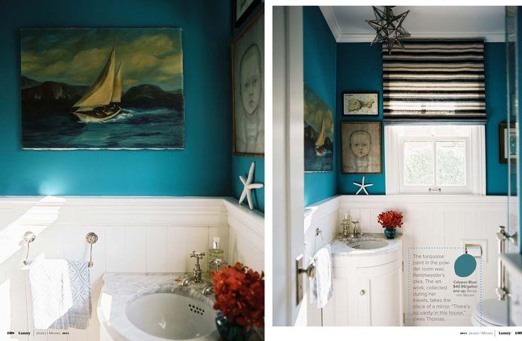 benjamin moore calypso blue - guest bath