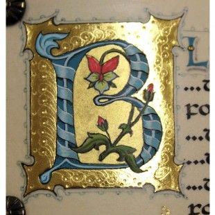 Illuminated letter by Harvest Crittenden.
