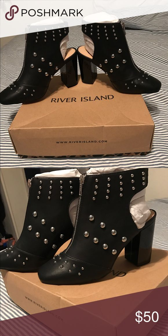Brand new studded shooties by River Island! Studded detail shooties by river island! Bought from Asos.com They retail for $75, they have never been worn and I am looking for $50 or best offer! US size 8! Thank you! River Island Shoes Ankle Boots & Booties