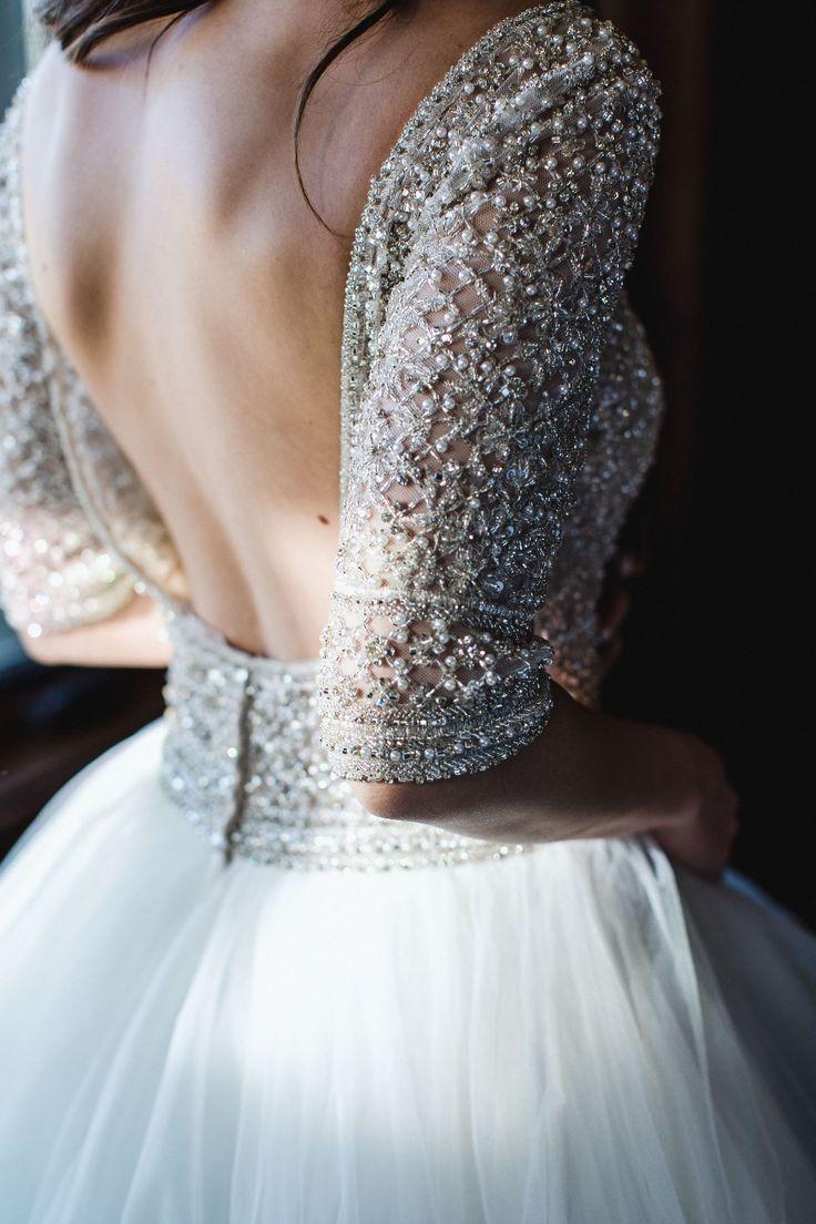 a sheer bodice of Swarovski crystals | Maggie Sottero, Allen Wedding Dress | Wedding Chicks