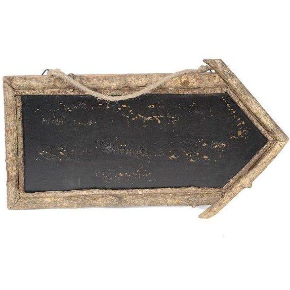 Rustic Wooden Blackboard Arrow - 909108 £3.39