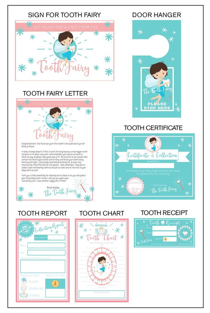 Tooth fairy printables tooth fairy printables kids