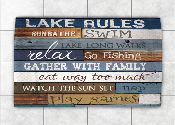 Lake Rules Accent Rug Lake Rules Accent Rugs And Lakes