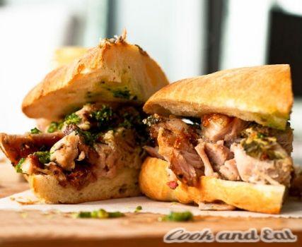 """Сэндвич с Поркеттой и соусом """"Сальса Верде"""" - Бутерброды и сэндвичи - Cook and Eat"""