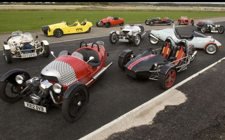 Andrew English tests 11 British-built three-wheeler cars, including the Morgan   Three-Wheeler and Grinnall Scorpian 3.