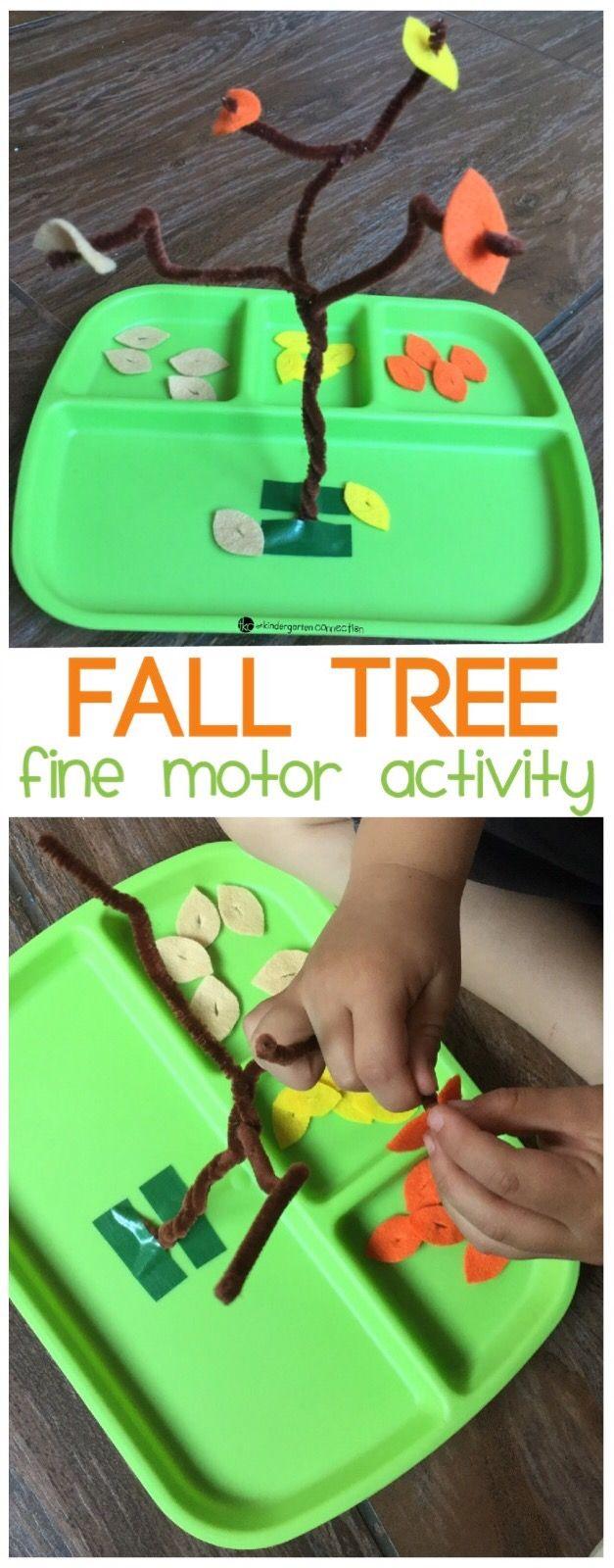 fall tree fine motor activity