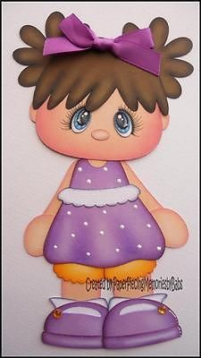 Premade Daisy Girl Paper Piecing for Scrapbook Pages by Babs | eBay