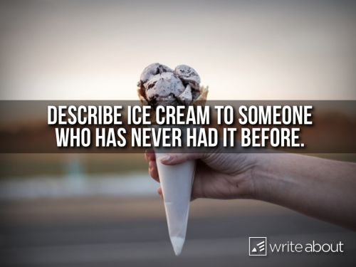 """""""You've never had ice cream before?"""" He asked in amazement. She shook her head no   (to rescued girl)"""