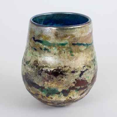"""Adam Aaronson Art Glass Bowl - """"Reflections"""