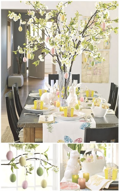 I love this Easter table scape!