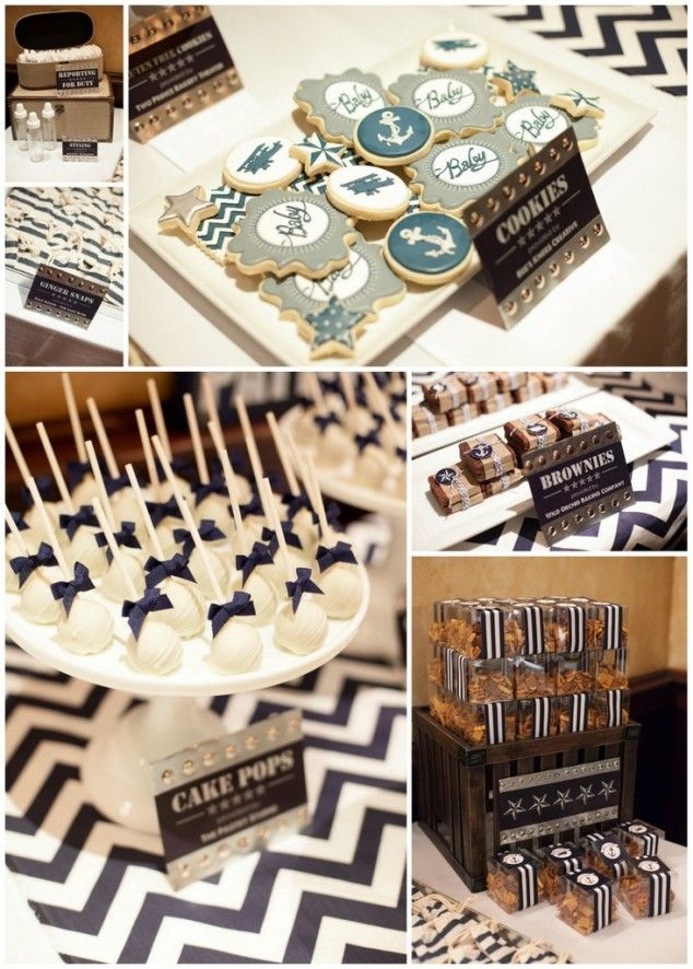 nautical baby shower treats  {Operation Shower for military families}