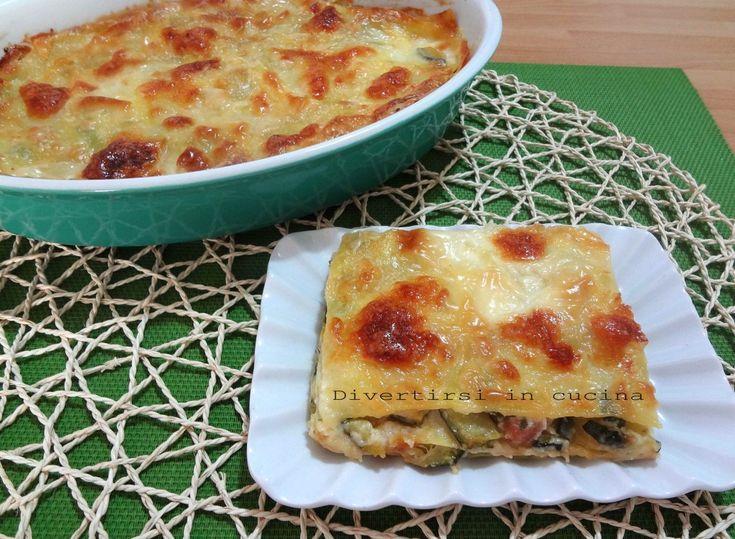 Ricetta lasagne zucchine e prosciutto cotto Divertirsi in cucina