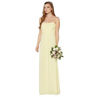 Hilary? Debut Light yellow ruched bodice maxi dress- at Debenhams.com
