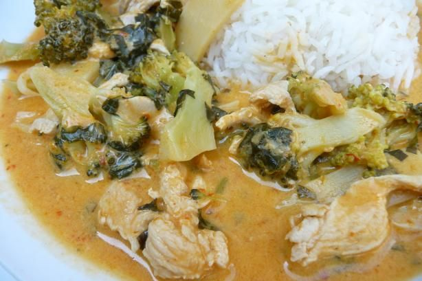 Chicken and Broccoli Thai Curry