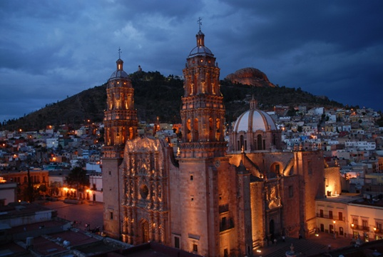 Zacatecas, Mexico. I love the super detailed exterior walls on this Cathedral.
