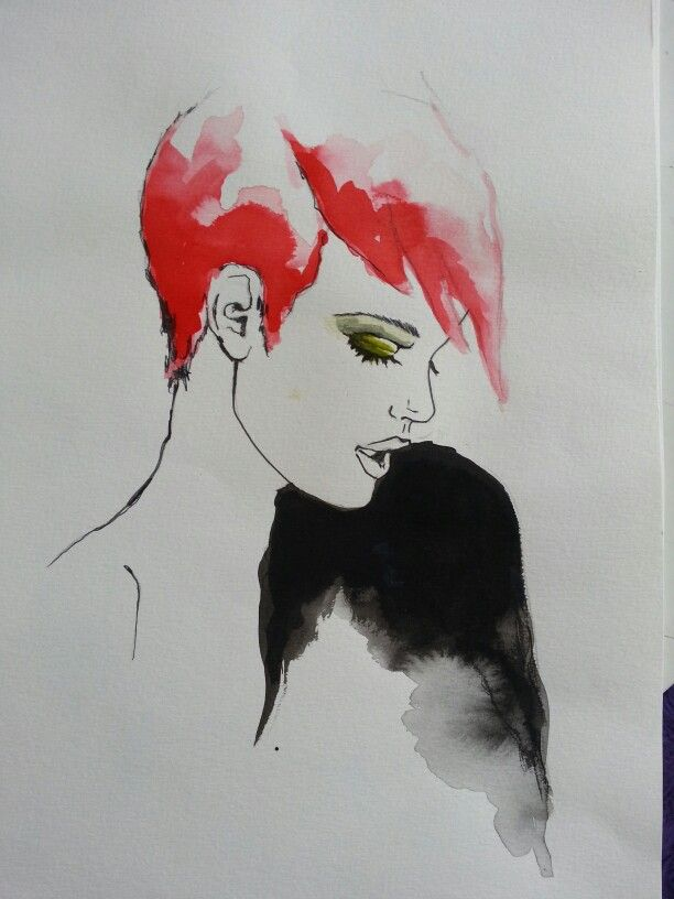 Had fun with watercolor.  Prints available @ $ 30 each + postage,  enquiries www.sladjanaadzic.weebly.com #artists #artistic #decor #color #gold #makeup #expressions #vision #fresh #freedom #fun #freshcut #trend #drawings #sketch #watercolor #prints