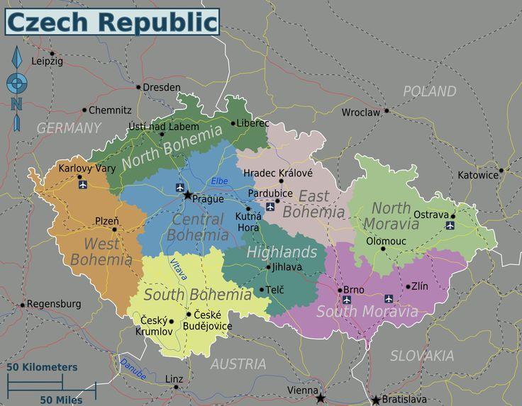 Regions of Czech Republic.