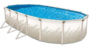 A 18′ x 33′ Pretium 52″ Deep Oval Above Ground Pool Kit will be the corner stone attraction to your backyard vacation area. Everyone surrounding and enjoying the Pretium will stand (or swim) amazed at the strength and integrity of the pool. Put some fun and enjoyment back into your yard. The Pretium above ground pool is one of the cheapest family vacations around.