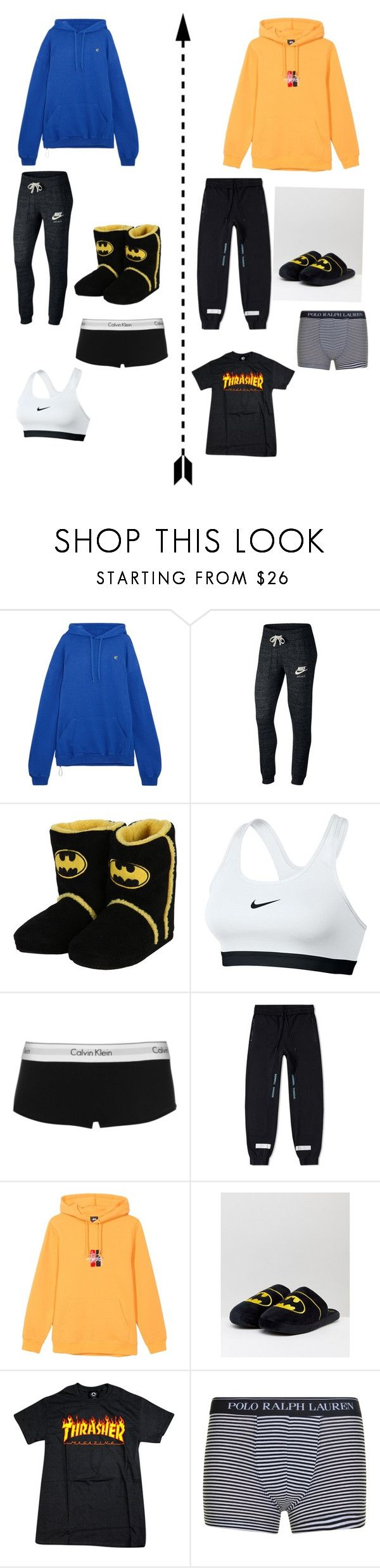 """""""Netflix and Cuddle🍿🍫🍕🥨🌟"""" by hazzajelly03 on Polyvore featuring Vetements, NIKE, Calvin Klein and Polo Ralph Lauren"""