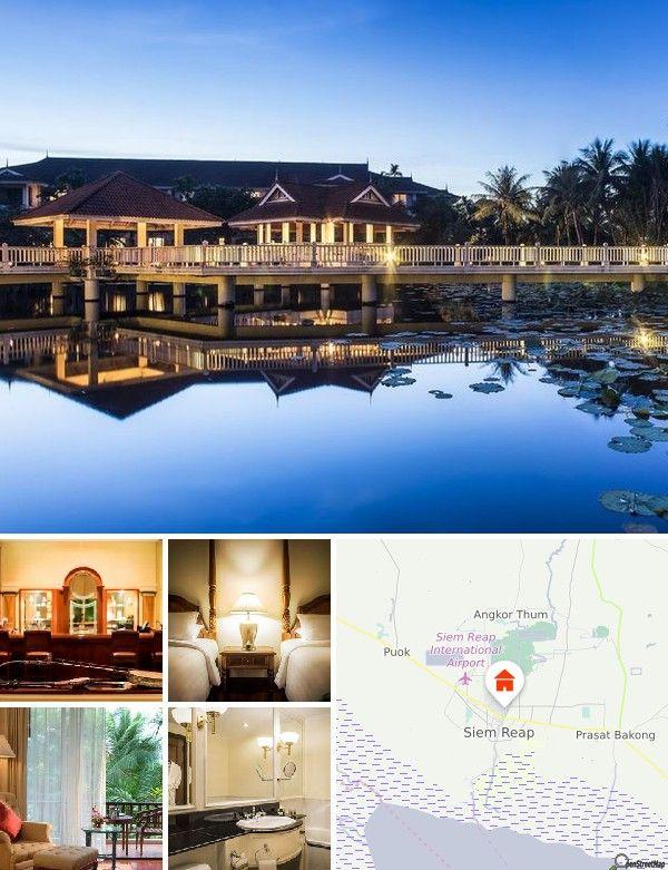 O hotel de luxo situa-se nas imediações dos célebres templos de Angkor, património mundial do Império Khmer do século XII. Nas imediações do edifício encontram-se tradicionais mercados de arte e de artesanato. Alcançará o aeroporto em cerca de 15 minutos de viagem.