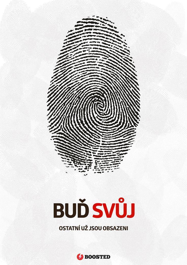 Motivační plakát Buď svůj (Česky)