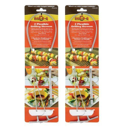 Mr. Bar-B-Q 160183 Flexible Grilling Skewers, 4-Pack by Mr. Bar-B-Q. $35.90. The mr. bar-b-q 4-pack flexible grilling skewers. Perfect for all kinds of cooking, indoor and out. Made from the highest grade stainless steel, these skewers will help you to create the most fantastic shishkabob and other great griling masterpieces. The Mr. Bar-B-Q 4-pack flexible grilling skewers. Made from the highest grade stainless steel, these skewers will help you to create the most fant...
