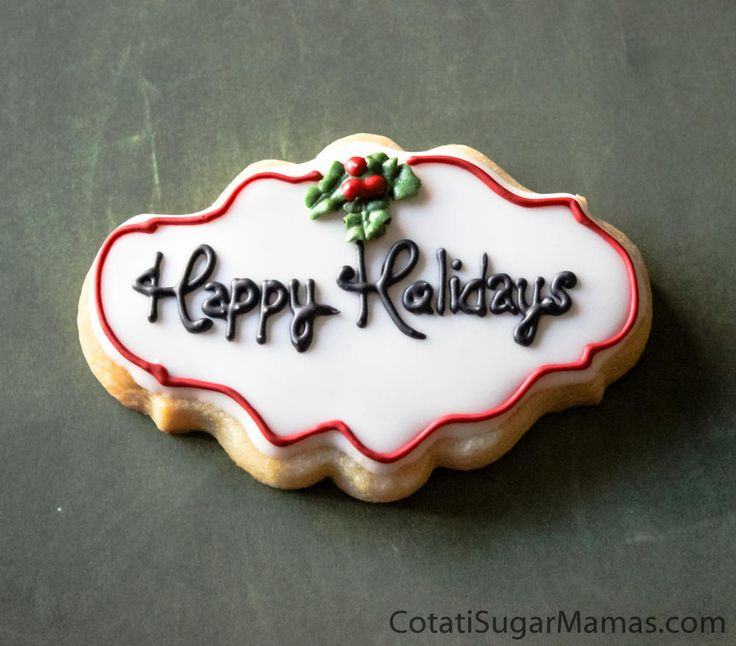 Happy Holidays- plaque | Cookie Connection