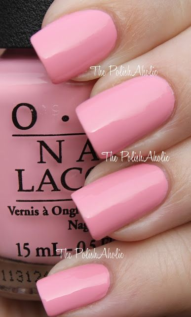 OPI Pink Friday - pale pink polish - nail color swatch