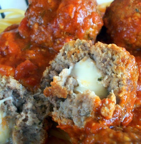 Recipe: Mozzarella Stuffed Meatballs Summary: These are great on top of spaghetti and they also make fantastic meatball hoagies! Ingredients 1 lb ground beef 1 lb ground pork or mild Italian sausage 1 cup breadcrumbs 1 TBSP Italian seasoning 3 eggs 3 garlic cloves, minced 1 tsp salt 1/2 tsp pepper 1/2 lb mozzarella, cut … … Continue reading →