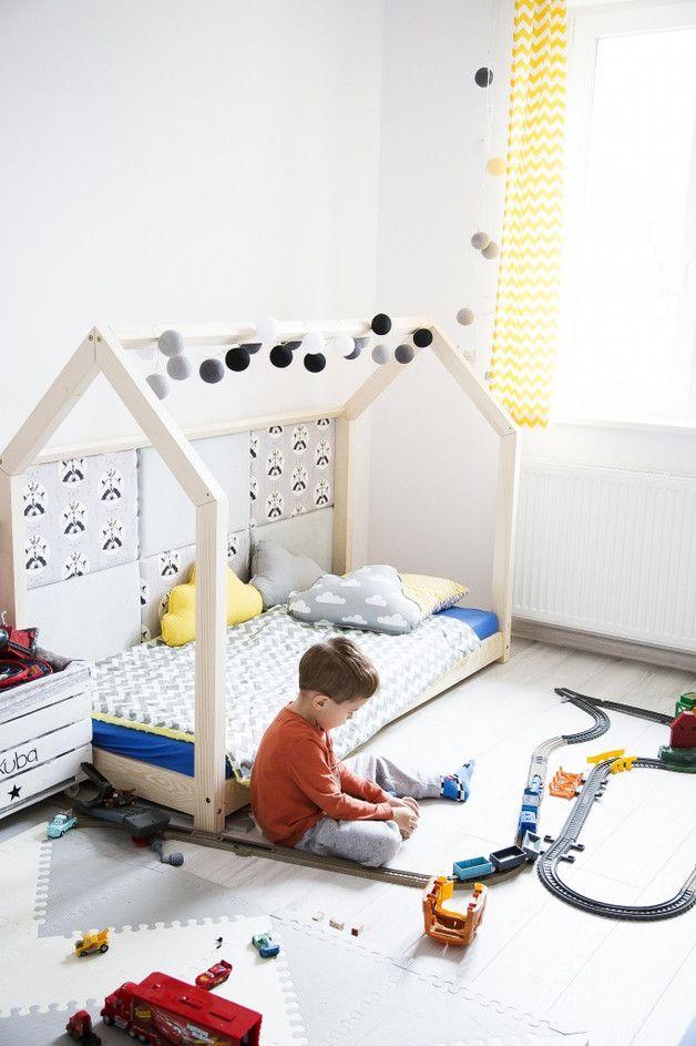 Łóżko - domek drewniany 70x140cm - Mia-and-Lou - Łóżka dla dzieci