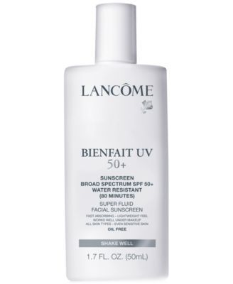 This light-weight, oil-free broad spectrum sunscreen is fast-absorbing and a perfect choice to wear every day over your Lancome moisturizer, under makeup or alone. Recommended by the Skin Cancer Found