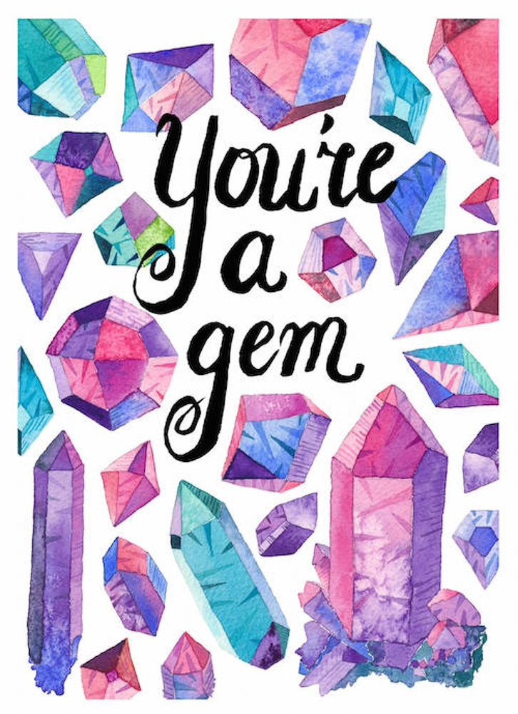 ARtist of the Week - Mermaid's Coin - $5 Cards - You're a Gem