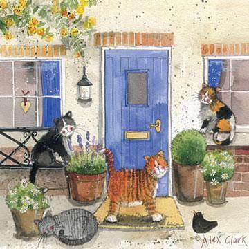 'Friendly Felines' by Alex Clark (E130) (NEW)